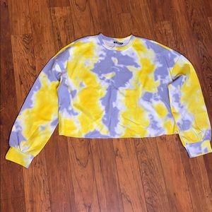 Drop Shoulder Tie Dye Pullover